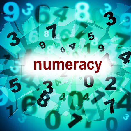 numeracy: Counting Numeracy Indicating One Two Three And Calculate Stock Photo