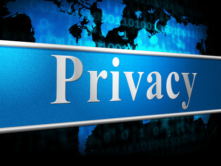 confidentially: Privacy Sign Meaning Confidentiality Placard And Secrecy