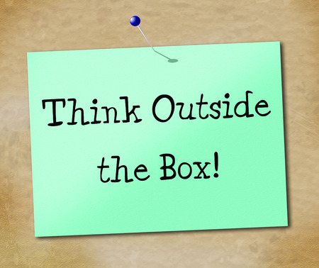 Think Outside Box Indicating Original Change And Ideas