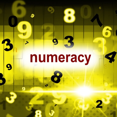 numeracy: Education Numeracy Indicating One Two Three And Tutoring Counter Stock Photo