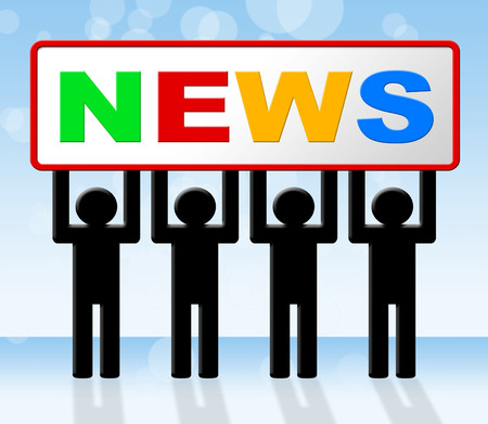 information medium: Media News Indicating Information Newspaper And Medium