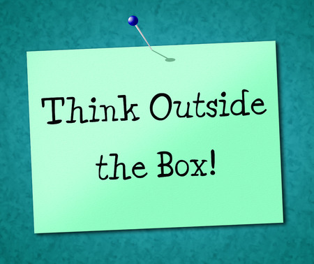 Think Outside Box Meaning Original Unique And Understand photo