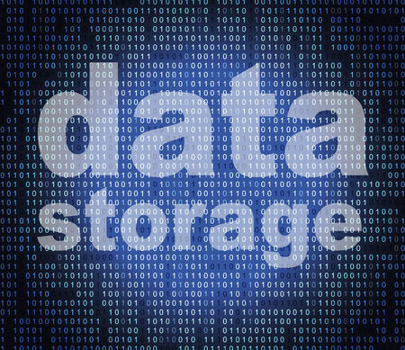 Data Storage Showing Hard Drive And Memory