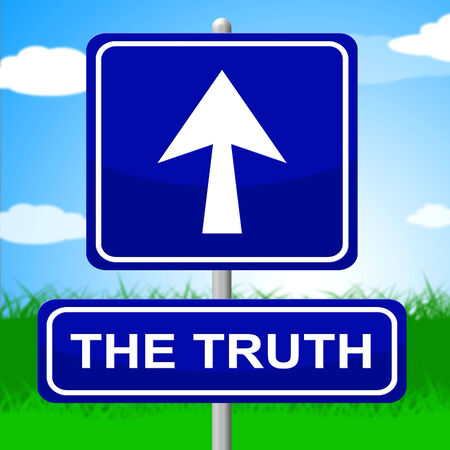 verifiable: Truth Sign Meaning No Lie And Trueness Stock Photo