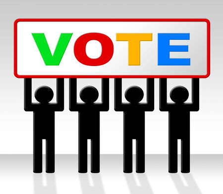 poll: Vote Poll Meaning Evaluation Choosing And Choice Stock Photo