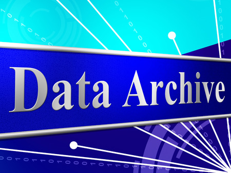 data archiving: Data Archive Indicating Fact Information And Drive