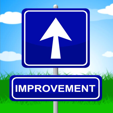advancing: Improvement Sign Indicating Growing Evolution And Advancing