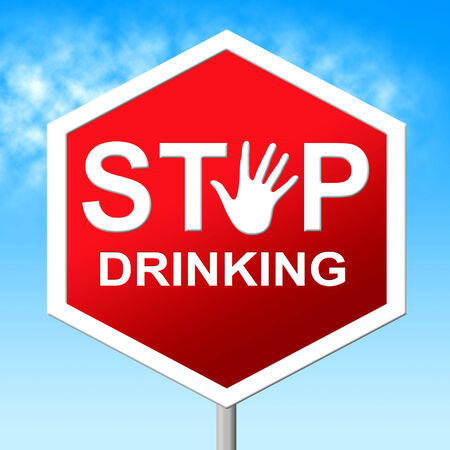 drinker: Stop Drinking Indicating Problem Drinker And Control