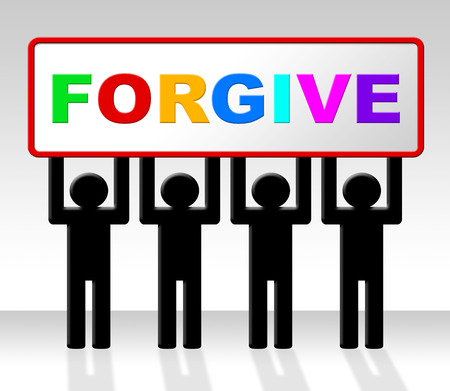 remorse: Sorry Forgive Showing Remorse Apology And Forgiveness Stock Photo