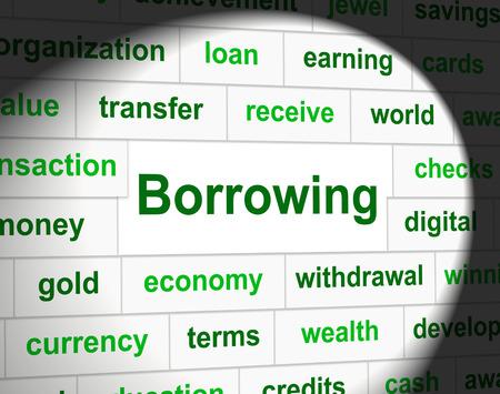 tomar prestado: Endeudamiento Deuda Mostrando Obligaci�n Financiera Y Finanzas
