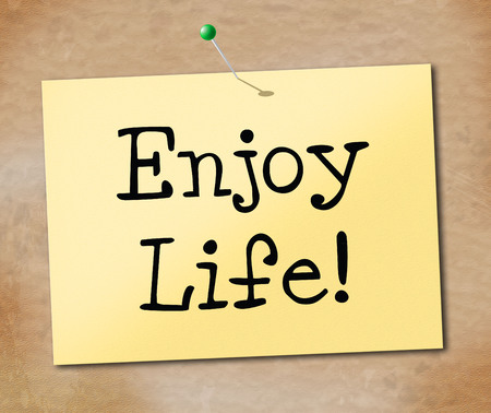 enjoy life: Enjoy Life Meaning Live Cheerful And Happiness Stock Photo