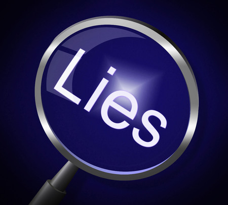 Lies Magnifier Meaning Fraud Honest And Lying photo