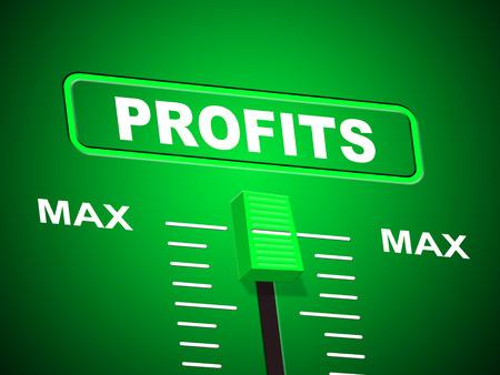 max: Profits Max Representing Upper Limit And Revenue Stock Photo