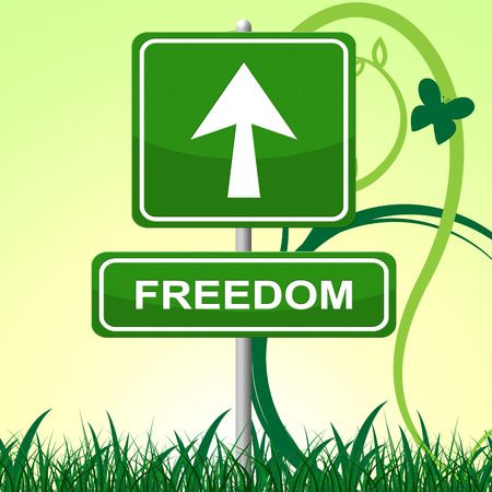 get away: Freedom Sign Showing Get Away And Message