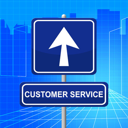 service desk: Customer Service Meaning Help Desk And Advice Stock Photo