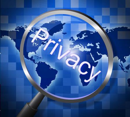 sigilo: Privacidade privado Indicando Pesquisa Pesquisa e sigilo