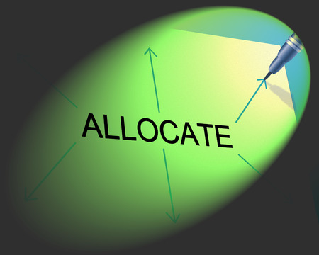 allocate: Allocate Distribution Indicating Dish Out And Logistics