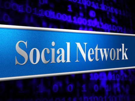 networking people: Redes Sociales Mostrando Gente en red y Amigos Foto de archivo