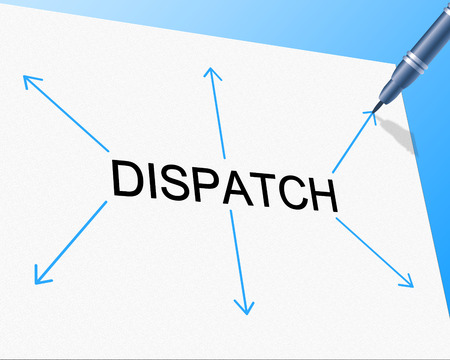 dispatch: Dispatch Distribution Showing Supply Chain And Shipping