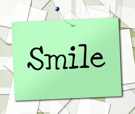 amabilidad: Sonrisa Símbolo Significado Mensaje Sonriente Y Letrero