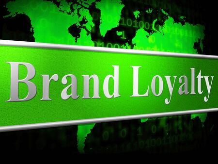 fidelidad: Lealtad a la marca que indica la empresa Identidad y fidelidad Foto de archivo