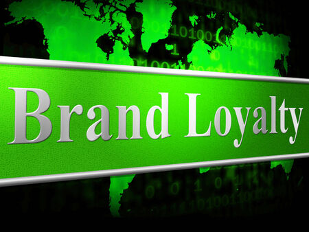 faithfulness: Loyalty Brand Indicating Company Identity And Faithfulness Stock Photo