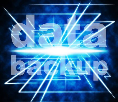 data archiving: Data Backup Representing Information Drive And Document
