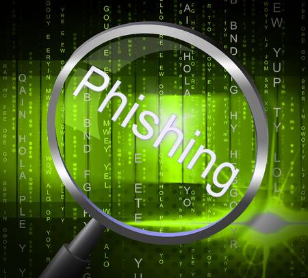 hustle: Phishing Frode Indicando Rip Off e Hustle Archivio Fotografico