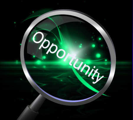 possibility: Magnifier Opportunity Meaning Searches Possibility And Chances Stock Photo