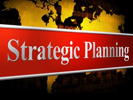 planificacion estrategica: Planificaci�n Estrat�gica Indicando Idea Receta Y Esquema Foto de archivo