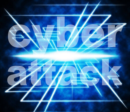 unlawful act: Cyber Attack Representing World Wide Web And Illegal Act