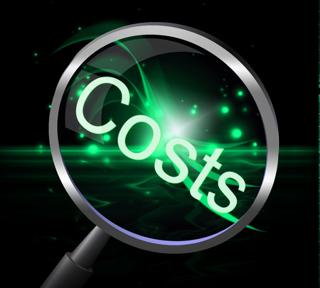 expenditure: Costs Magnifier Showing Bills Expenditure And Accounts