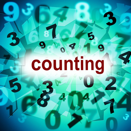 numeracy: Numbers Mathematics Indicating One Two Three And Numeracy Stock Photo