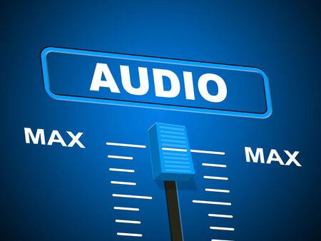 Audio Music Representing Sound Track And Peak