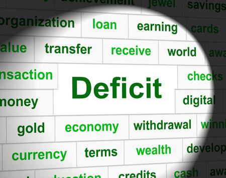 indebtedness: Debiti Deficit Rappresentare impegno finanziario e Finanza Archivio Fotografico