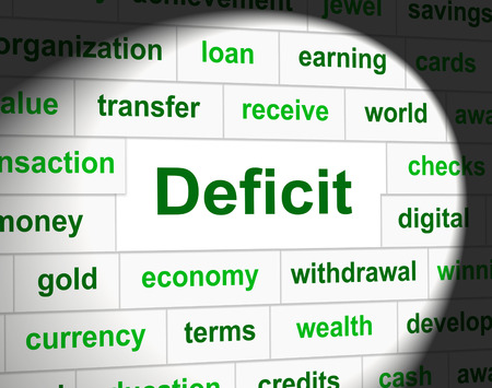 indebtedness: Debts Deficit Representing Financial Obligation And Finance