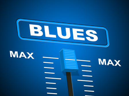 remix: Blues Music Showing Sound Track And Musical