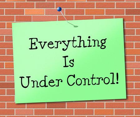 structured: Bajo control Significado Estructurado Muestra Y Gestionado