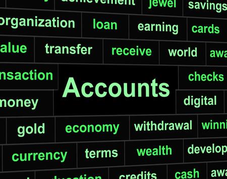 Accounting Accounts Indicating Balancing The Books And Paying Taxes photo