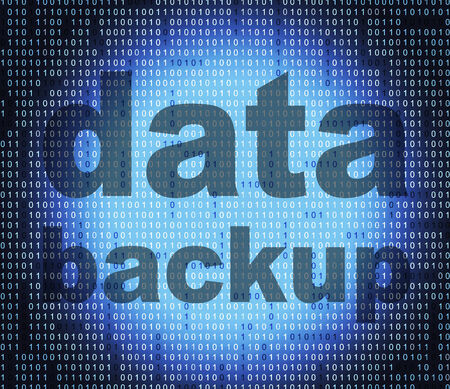 data archiving: Data Backup Indicating File Transfer And Computer Stock Photo