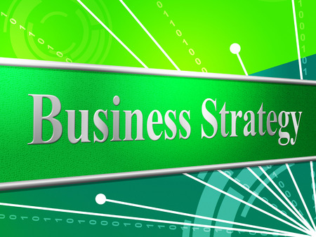 biz: Strategy Business Showing Biz Tactics And Planning Stock Photo