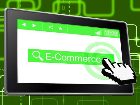 e commerce: E Commerce Indicating World Wide Web And Website Stock Photo