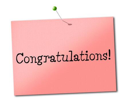 accomplish: Sign Congratulations Indicating Celebrate Accomplish And Accomplishment