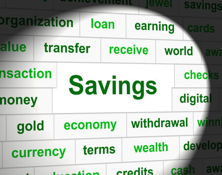 saved: Saved Savings Indicating Investment Growth And Finances Stock Photo