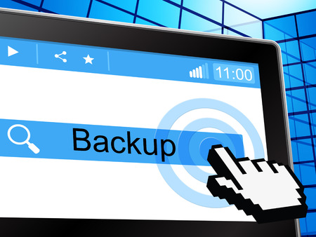 archive site: Online Backup Showing World Wide Web And Website Stock Photo
