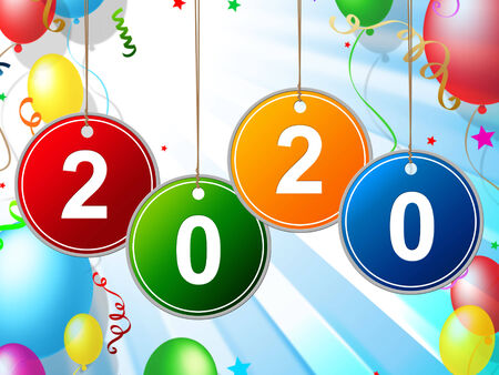 festivities: New Year Meaning Partying Celebration And Festivities Stock Photo