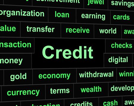 indebt: Debts Credit Representing Financial Obligation And Loan