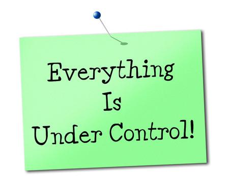 structured: Bajo control Representando Estructurado Administrar y organizar Foto de archivo