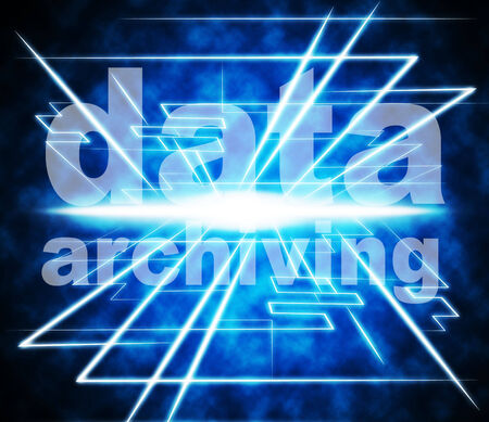 archiving: Data Archiving Representing Library Paperwork And Filling