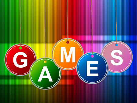 recreational: Games Play Indicating Leisure Recreational And Entertainment